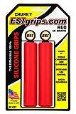 ESI grips(イーエスアイ グリップス) MTB グリップ Chunky Grips CESGRCHRD レッド 外径32mm x 長さ130mm