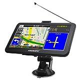 ポータブルカーナビ ワンセグ搭載 TV機能 7インチ高性能GPSカーナビゲーション 2019年 最新地図 12V・24V車対応