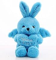 可愛いぬいぐるみ ぬいぐるみ45cmエンジェルラビットぬいぐるみエンジェルウサギソフトおもちゃアニマルエンジェルウサギ人形ぬいぐるみ(ブルー)