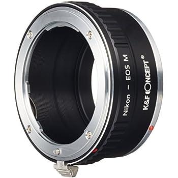 K&F Concept レンズマウントアダプター KF-NFEM (ニコンFマウントレンズ → キャノンEF-Mマウント変換)