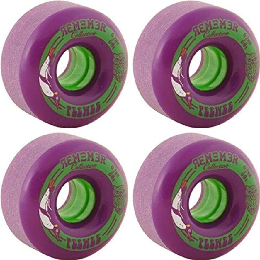 広い無し悲惨なRemember the pee-weeパープルLongboard Skateboard Wheels – 62 mm 80 a ( Set of 4 )