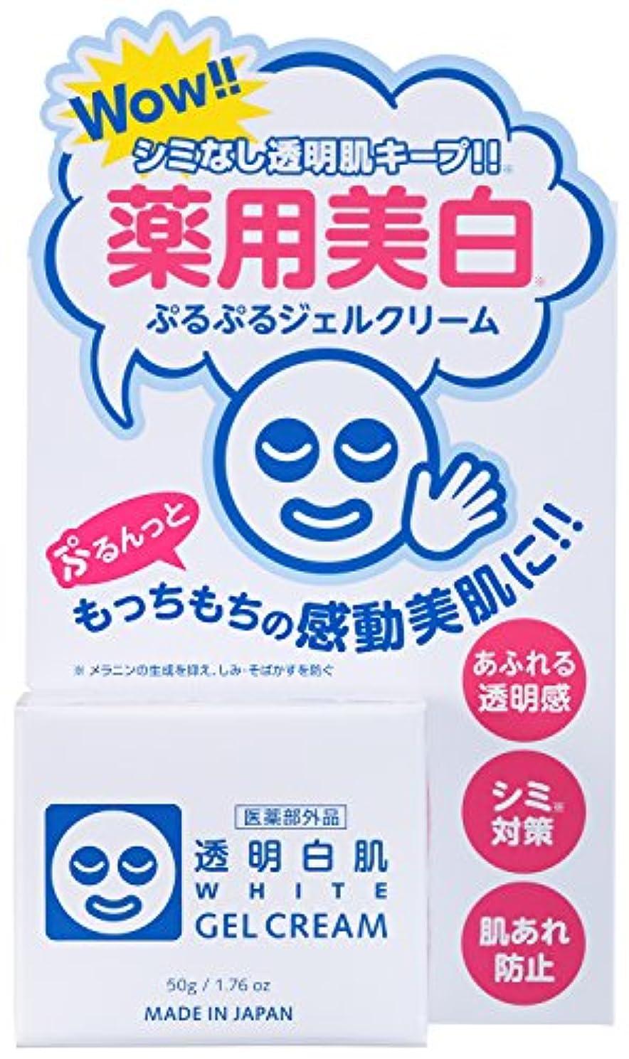 近代化する貸し手気分透明白肌 薬用ホワイトジェルクリーム <医薬部外品> 50g