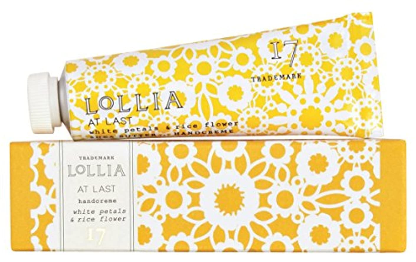 ふざけたなす許されるロリア(LoLLIA) ミニハンドクリーム AtLast 9.3g (ライスフラワー、マグノリアとミモザの柔らかな花々の香り)