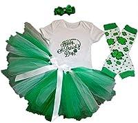 aishiony Baby Girls 4pcs 1st聖パトリックの日チュチュOutfit新生児パーティードレス カラー: グリーン