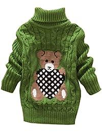 1da1206921bff Yunping 女の子 男の子 キッズ ジュニア セーター タートルネック ニット プルオーバー 子供服 ...