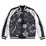 (ジャパネスク)Japanesque 幾何学桜柄刺繍スカジャン ブラック XL