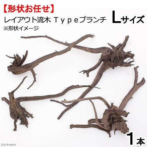 形状お任せ レイアウト流木 Typeブランチ Lサイズ(30~40cm) 1本