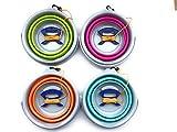 【ASPALAND】折たたみ 丸型 5リットル ソフト バケツ ロープ 握り付 お掃除 洗車 アウトドア 選べる 4色