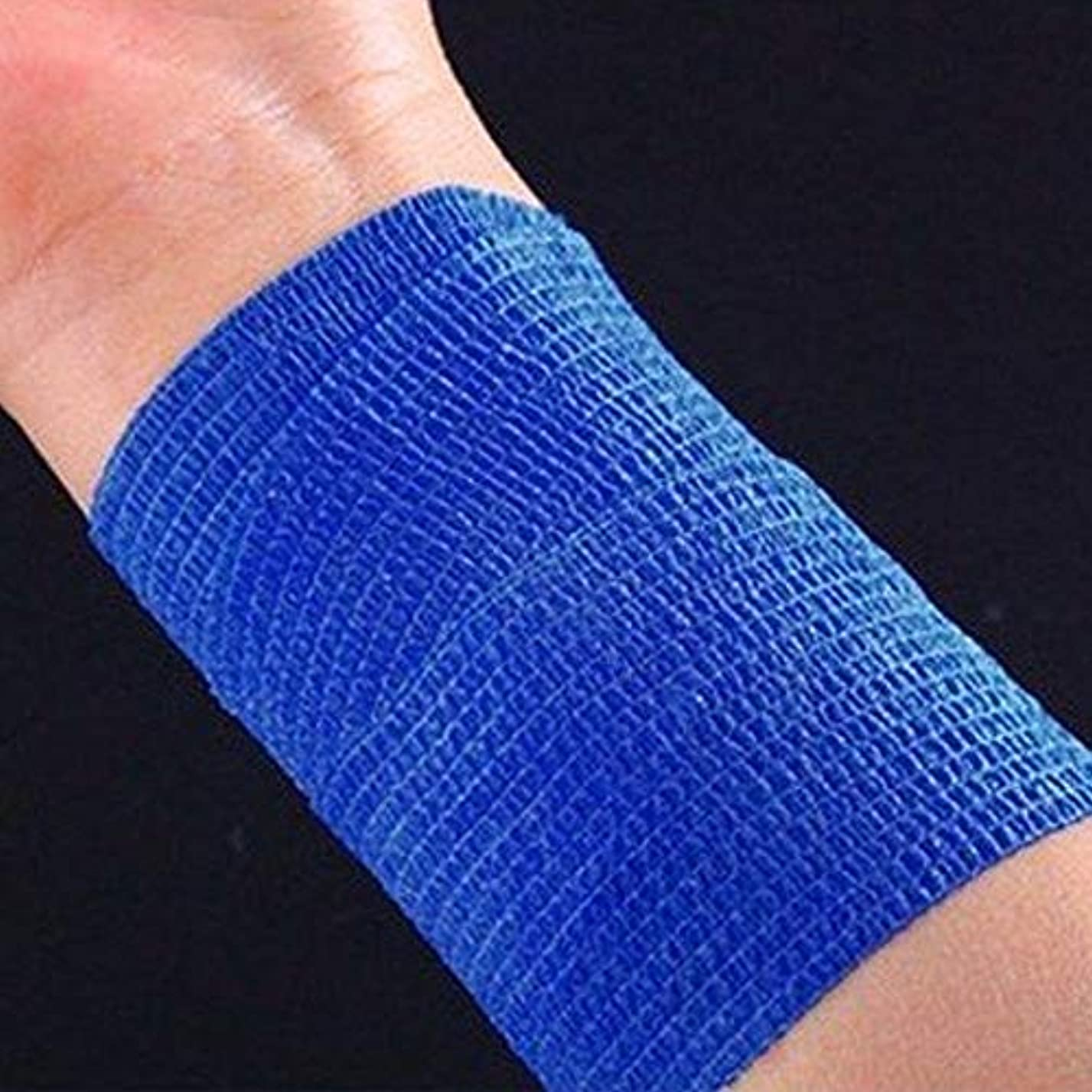 学習図通路Pichidr-JP 自己接着包帯足首の捻挫、腫れや手首のための2インチの便利な弾性包帯