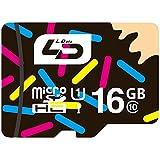 LD Micro SD カード 16GB Class10 MicroSDHC Memory Card UHS-I超高速対応 防水 耐磁 耐X線 30年保証 メモリーカード ハイスピード MicroSD 16G TF Card カーナビ・Android携帯・タブレット対応 (16GB, microSD Class10)
