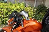 (ななみ) タブレットホルダー マウント バーマウント バイク 自転車 ツーリング 最適 ナビ 携帯 トランシーバー を装着 PL保険加入商品