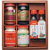 ユウキ食品 中華調味料6点セット(豆板醤、ガラスープ、甜面醤、生おろしにんにく、オイスターソース、キムチドレッシング) S-31