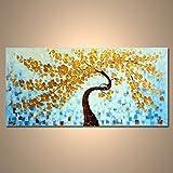 【モダン油絵工房】 油絵 現代絵画 手書きモダン油絵 ナチュラルライン 木A 2FAE-1167 120×60cm