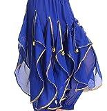 《Princess★MARRON》プリンセス・マロン【 ベリーダンス パンツ 】【 パンツ 全 7 色 】 ダンス ステージ衣装   コスチューム アラジン アラビアン 大人ズボン (ブルー)