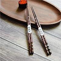 日本式家庭のとがった箸チェリータートルウッド箸寿司料理木製の箸ホテル創造的な箸 赤い桜のお花のお箸