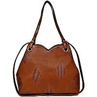 ALEX T.G. Women Handbag HEART Brown Color
