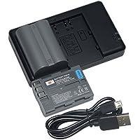 互換バッテリー DSTE EN-EL3E D300 バッテリーパック 2個(大容量 2200mAh/7.4V) + 充電器 セットUSB 急速充電 Nikon D30, D50, D70, D70S, D90, D80, D100, D200, D300, D300S, D700 に対応