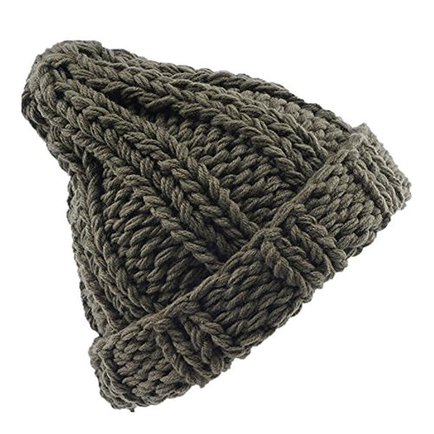 のために屈辱するこれまでRacazing 選べる4色 ニット帽 縮らす ニット帽 防寒対策 通気性のある 防風 暖かい 軽量 屋外 スキー 自転車 クリスマス 編み物 ベレット Hat 男女兼用 (グリーン)
