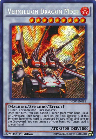 遊戯王 英語版/Yu-Gi-Oh! - Vermillion Dragon Mech (INOV-EN081) - Invasion: Vengeance - 1st Edition - Secret Rare