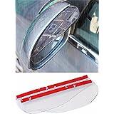 2x Universal Rear View Side Mirror Rain Board Sun Visor Shade Shield For Car Truck SUV Clear
