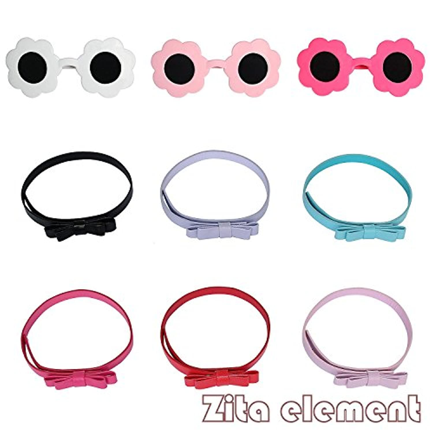 6PCS Doll Accessory- 3xSUNGLASS + 3xBELTS-ramdon style fit for 18 inch American Girl Doll
