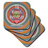 (set-of-8-Soft) - InspirationzStore Occasions - 9th Wedding Anniversary gift - Pottery celebrating 9 years together ninth anniversaries nine yrs - set of 8 Coasters - Soft (cst_154440_2)