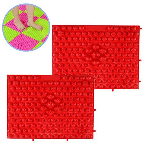 NJGN 足つぼマット カラフル 連結可能 シート 5色 2枚 セット (ピンク)