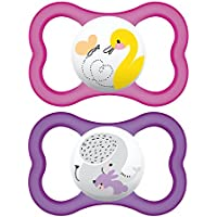 MAM AIR BPA FREE Orthodontic Silicone Pacifiers, 2-pk(Assorted colors) by MAM [並行輸入品]