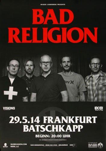 Bad Religion???プロセスのBelief Fra 2014???コンサートポスター
