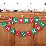 creve メリークリスマス merry christmas カラフル バナー ガーランド 2.2m 15枚セット