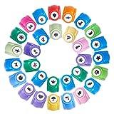PandaHall Elite 30個/セット クラフト ペーパー パンチ カラフル 紙用パンチ ミニクラフトパンチ 工芸パンチ デコレーション ハンドメイド作成道具 写真&はがき&カード&スクラップブック&ペーパークラフト 混合色
