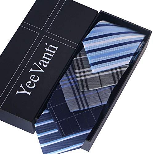 Yeevanti 洗える ネクタイ 5本セット メンズ ネクタイ 高級 ギフトボックス付き ビジネス 結婚式 プレゼント (5本セットA)