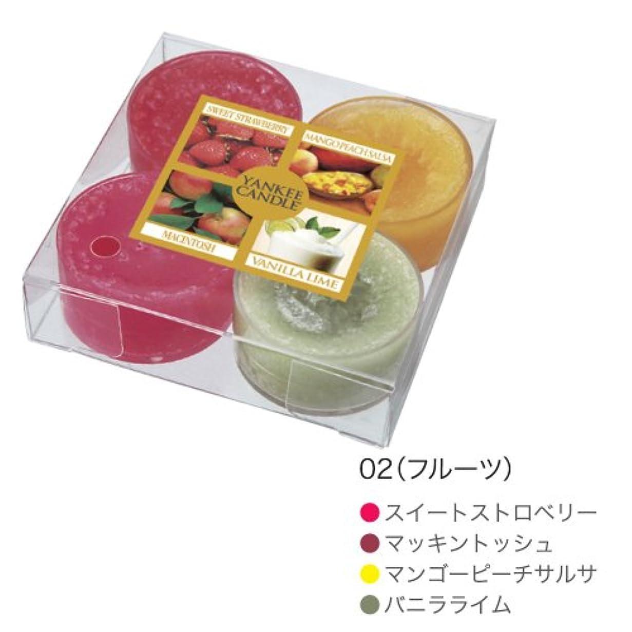 クアッガ砂のおもしろいYANKEE CANDLE(ヤンキーキャンドル) ティーライトアソート フルーツ