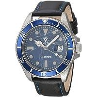 Christian Van Sant Men's 'Montego Vintage' Quartz Stainless Steel and Leather Casual Watch, Color:Black (Model: CV5103L)