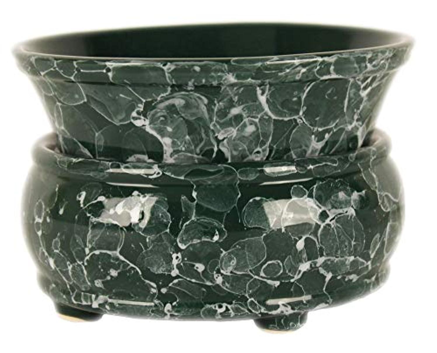 松適格顕著元Candle Warmer – 2イン1 Air Freshener – グリーンElectricワックスキューブMelter – Aroma Diffuser – Odor Eliminating Burner
