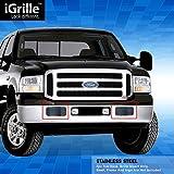 マットブラックステンレススチールegrilleビレットグリルグリル05–07のフォードExcursion (エクスカージョン)
