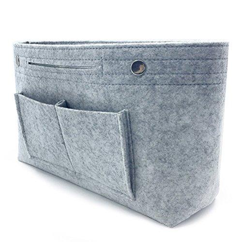 VANCORE バッグインバッグ フエルトバックインバック レディース 人気 a4 inバッグ インナーバッグ メンズ カバンの中身整理 通勤(5色)グレー-M