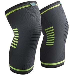 Amazon | (2個セット) スポーツ 薄型 膝サポーター 膝固定 関節 ...