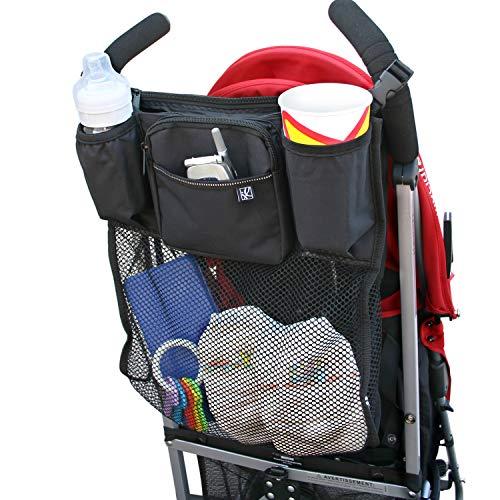 ベビーカー バッグ ベビーカー用バッグ ドリンクホルダー 大容量 多機能小物入れ (装着したまま おりたた...