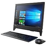 19.5型液晶一体型PC Lenovo ideacentre AIO 310 Windows10 Celeron デュアルコアCPU 4GB 500GB DVDスーパーマルチ 高速無線LAN IEEE802.11ac/a/b/g/n Bluetooth USB3.0 HDMI webカメラ ステレオスピーカー SDカードスロット搭載 10キー付日本語キーボード&マウス付 カラー/ブラック
