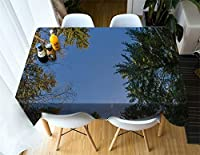 3d Scenery Birch Tree Tablecloth Round Square Rectangle Fabric for Coffee Dinning Tea Table Nightstand Furniture Covers Decor