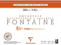 Clairefontaine 96344Cサテンファウンテンブロック20枚接着4面23 x 31 cm 300 g