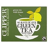 1パックレモン80とクリッパーフェアトレード緑 (x 2) - Clipper Fairtrade Green with Lemon 80 per pack (Pack of 2) [並行輸入品]