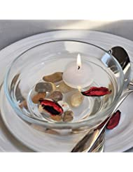 熱い販売10ピース/ロット小さな無香料フローティングキャンドル用ウェディングパーティーホームデコレーションキャンドル-Ivory
