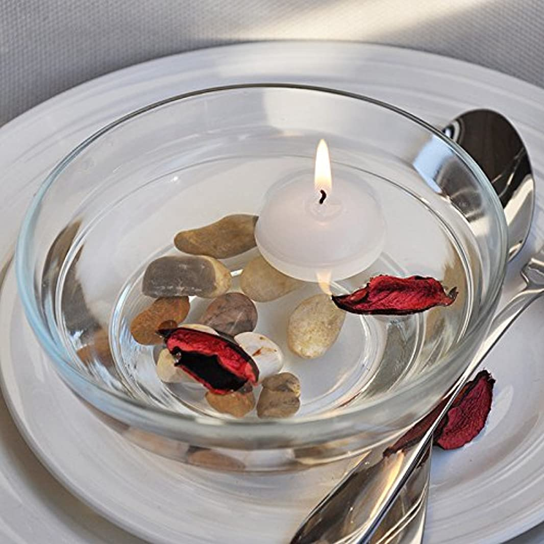 レタッチ同情取るに足らない熱い販売10ピース/ロット小さな無香料フローティングキャンドル用ウェディングパーティーホームデコレーションキャンドル-Ivory