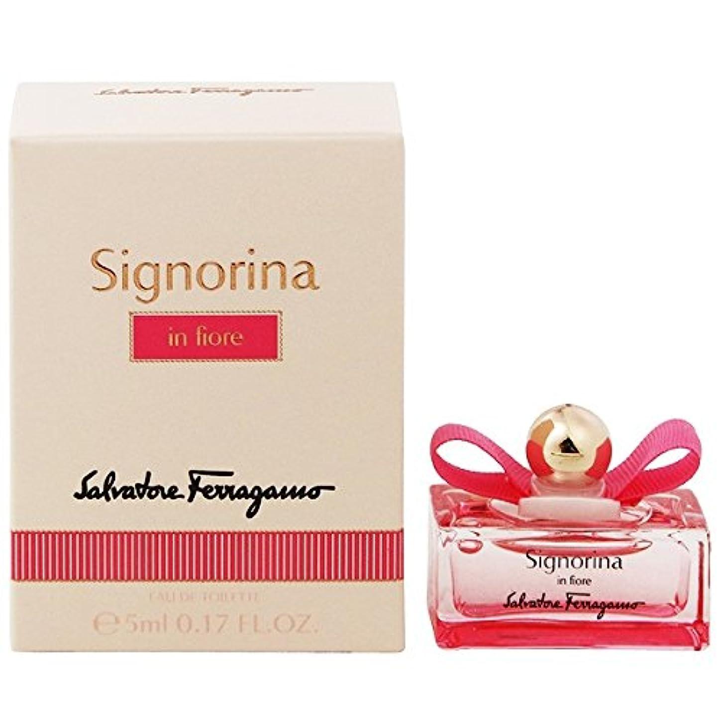 教育する頑張る暖かさサルヴァトーレ フェラガモ シニョリーナ インフィオーレ EDT 5ml ミニ香水