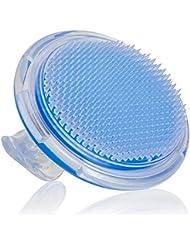 あごひげケア 美容ツール シャンプーブラシ 洗髪櫛 頭皮 プラスチック スカイブルー マッサージ器 携帯用 疲れ解消 お風呂 ヘアケア シリコン 男女兼用