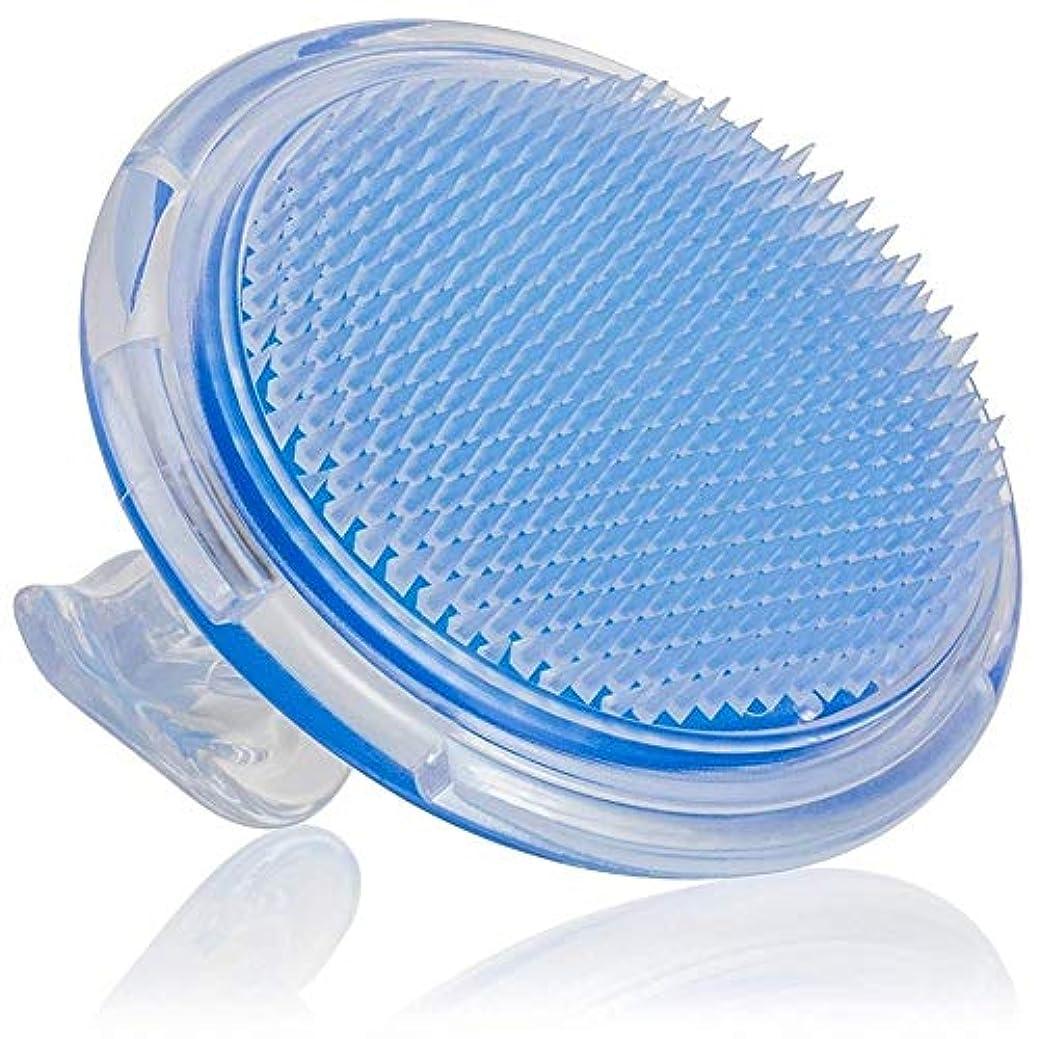 装備するストラトフォードオンエイボン装備するあごひげケア 美容ツール シャンプーブラシ 洗髪櫛 頭皮 プラスチック スカイブルー マッサージ器 携帯用 疲れ解消 お風呂 ヘアケア シリコン 男女兼用