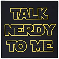 3drose Talk Nerdy To Me Black and Yellow - Mouse Pad [並行輸入品]
