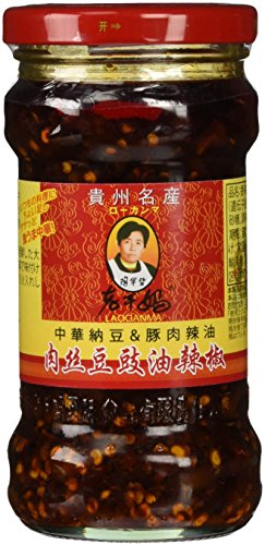 老干媽 肉絲豆鼓油辣椒(中華納豆&豚肉ラー油) 280g